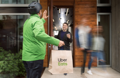 sign up to drive for uber eats