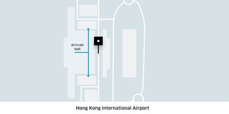 This is where all Uber pick up points at HKG