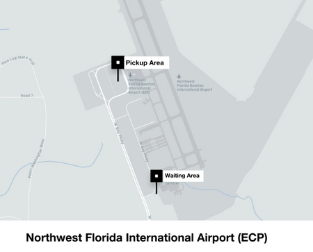 Florida Map Airports.Instructions For Drivers At Northwest Florida Beaches International