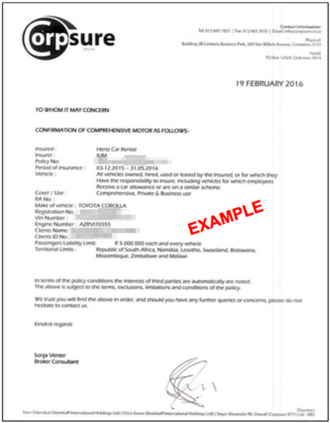 Required Vehicle Documents Uber