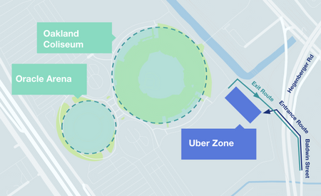 Instructions for Drivers At Oracle Arena | Uber